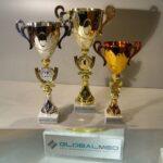 Кубки для победителей на корпоративном соревновании Global Med