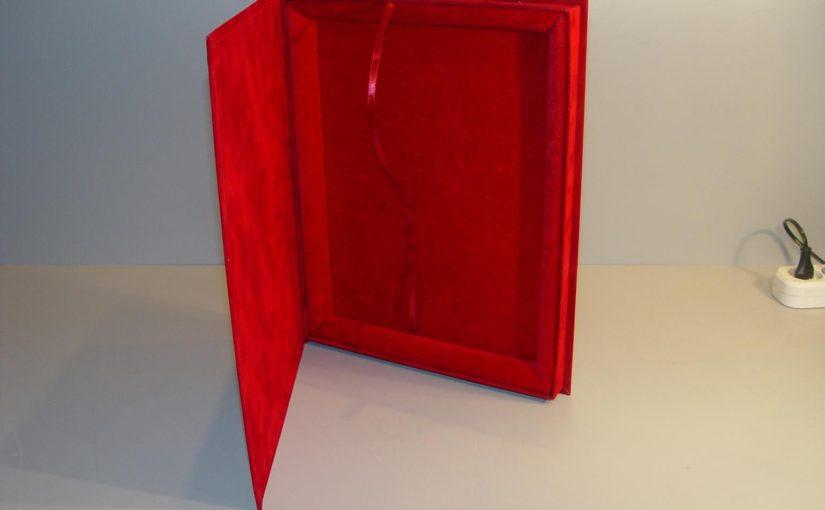 Подарочная коробка для плакеток 228х305мм (флок)