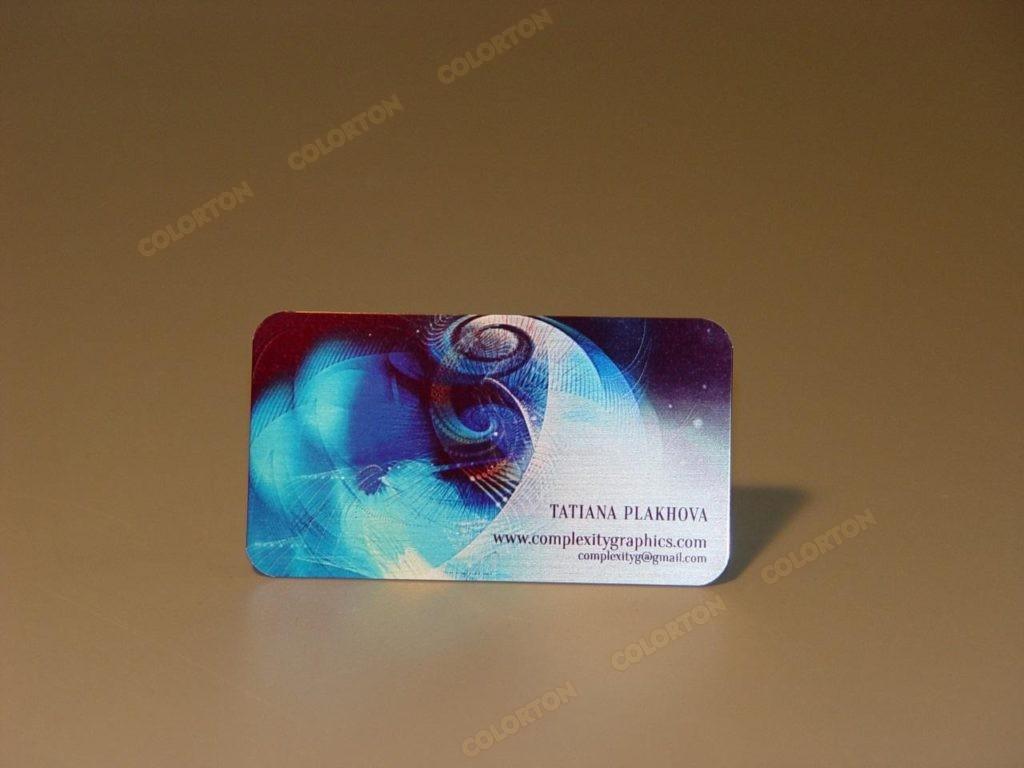 Изображение персональной визитки из металла