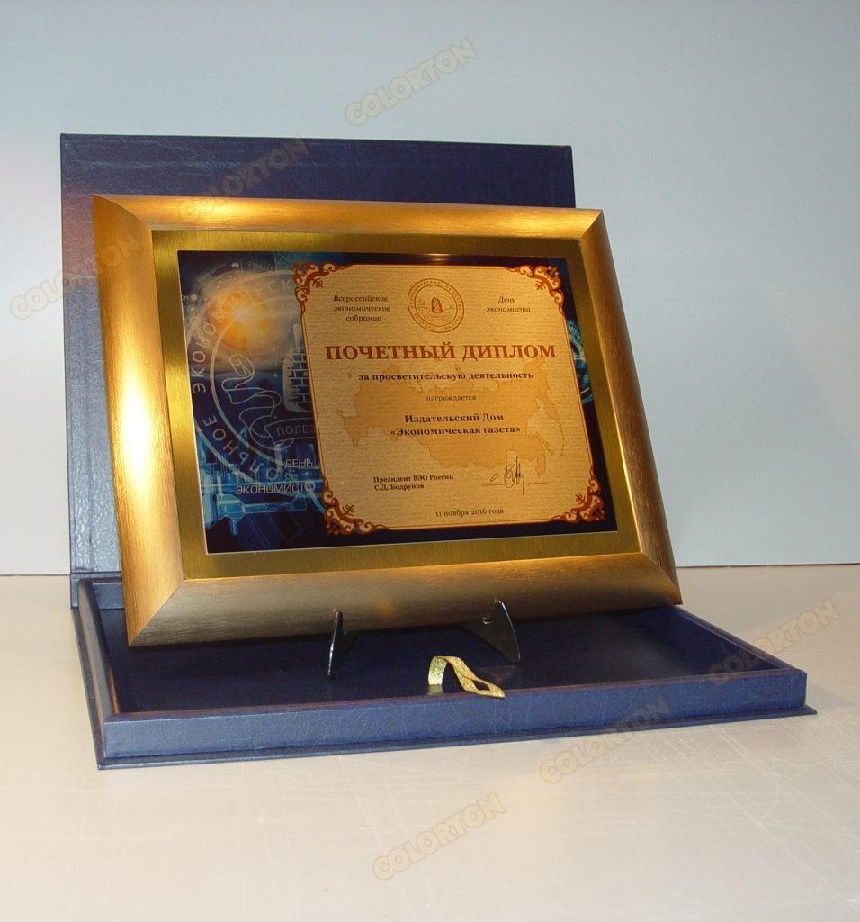 Изображение почётного диплома ВЭО России