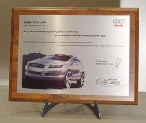 Сертификат ауди