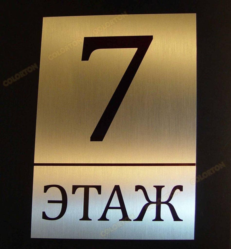 Изображение номерка этажа