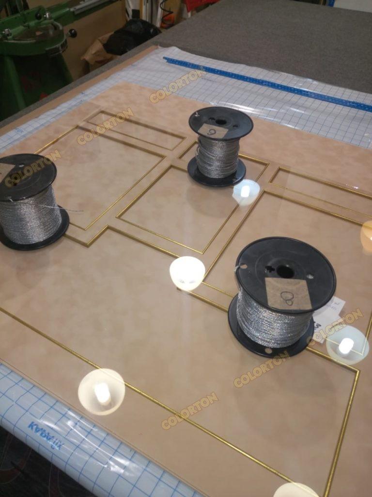 Фото процесса изготовления стенда-панно катушки